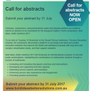 Call for abstracts - Bold ideas, better solutions symposium 2017