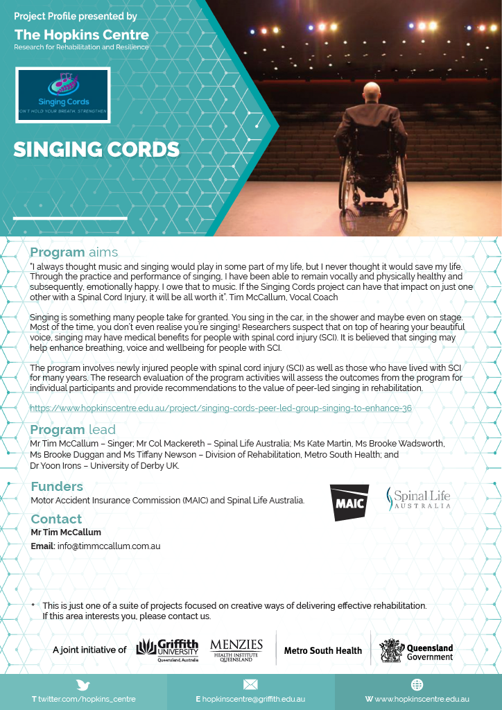 Singing Cords flyer