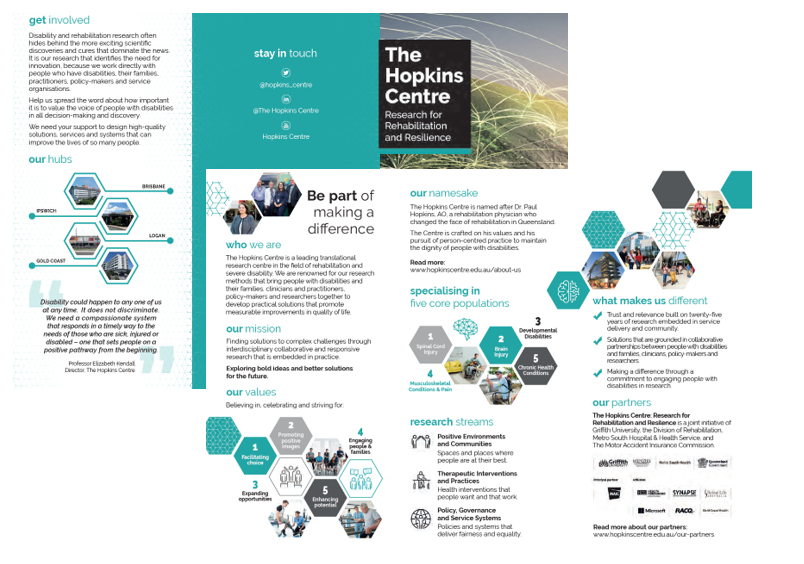Image of The Hopkins Centre brochure